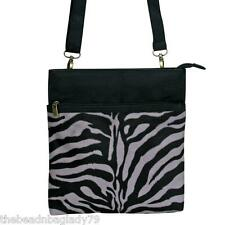 NEW PASSION FOR FASHION ZEBRA STRIPE ANIMAL BAG CROSSBODY TABLET PURSE