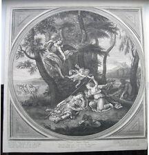 Radierung Bernard Picart: Armida & Rinaldo 1710/Ething Cupid, Amor