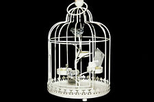 BIRD CAGE SHABBY CHIC VINTAGE LARGE TEA-LIGHT HOLDER WEDDING CENTRE PIECE HOME