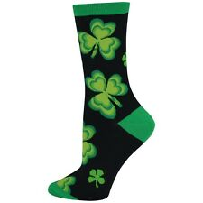 Women's Shamrock Socks Four Leaf Clover Notre Dame Socks NEW 9-11