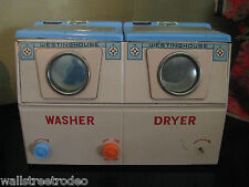 Vintage Tin Westinghouse washer dryer mid-century dollhouse toy TN Japan
