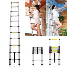 3.2m New Multi-Purpose Aluminium Telescopic Ladder Extension Extendable Steps +