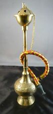 HUBBLY- BUBBLY HOOKAH SHEESHA PIPE BRASS EMBOSSED MINI SMOKEABLE INDIA