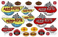 Aero Flyte Engine Tether Car Airplane Racer Toy Vehicle Waterslide Decal Set