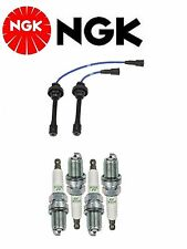 NGK Wire Set + 4 NGK Spark Plugs For Mitsubishi Galant L4; 2.4L 1999-2003
