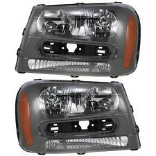 2002 2003 2004 2005 CHEVROLET TRAILBLAZER HEAD LIGHT LAMP PAIR RIGHT & LEFT SET