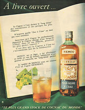 Publicité Advertising 1959  Cognac HENNESSY  HENCO