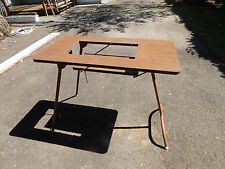 Vtg portable folding sewing Machine table  drop in