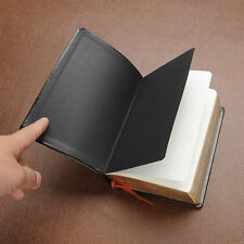 Retro Leather Cover Thick Blank Pages Notebook Journal Diary Sketchbook