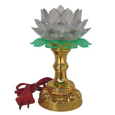 "6.25"" Chinese Asian Table Desk Altar Lotus Buddha Lamp Light"