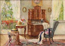 STEFANIE TRAUTTWEILLER-Austrian Artist -Oil Painting- Interior & Still Life
