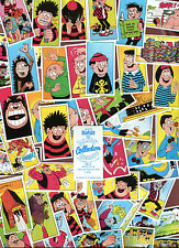 "BASSETT 1990 SET OF 48 ""DANDY BEANO COLLECTION"" BLUE BACK TRADE CARDS"
