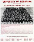 Nebraska Cornhuskers 1971 National Champions, 8x10 B&W Team Photo