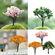 3X Garden Decoration Bonsai Sakura Tree Miniature Plant Pots Fairy Ornament DIY