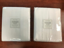 2 Restoration Hardware Stonewashed Cotton Linen Drapes Drapery 100 X 96 White
