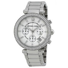 Michael Kors MK5353 Parker Wrist Watch for Women Silver, Chrono stainless steel