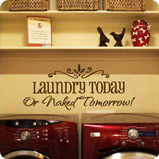Laundry DIY Removable Art Vinyl Quote Wall Sticker Decal Mural Home Room Decor