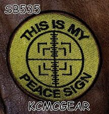 This is my Peace Sign Round Small Badge for Biker Vest Jacket Motorcycle Patch