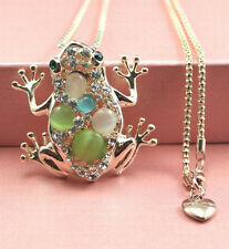 New Fashion lovely colorful  frog shape necklace Christmas gift k340
