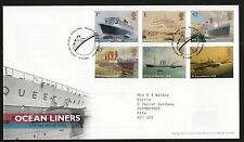 GB 2004 FDC Ocean Liners special handstamp Tallents House Edinburgh, stamps