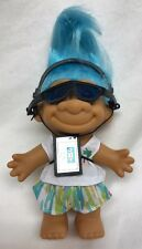 Russ 80s Walkman TROLL NEW Blue Hair 7 Inches w/ Hair 18366 Sunglasses