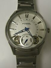 FOSSIL MEN'S ARKITEKT ME1051 TWIST STAINLESS STEEL SILVER DIAL WATCH - PREOWN