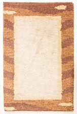 Moderner Gabbeh Teppich Ca. 60 x 40 cm Brücke Schurwolle Handgemacht 20