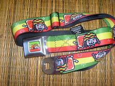 DIGI NYAN RASTA CAT POLYESTER BUCKLE DOWN SEATBELT STYLE ADJUSTABLE BELT OSFM