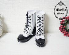 NEW Super Dollfie 1/3 BJD Shoes /Lace-up boots(Black&White)