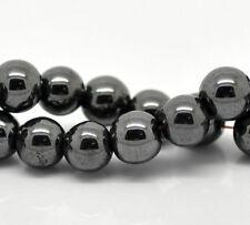 8mm HEMATITE GEMSTONE Round Beads 1 strand, 50 beads ghe0022