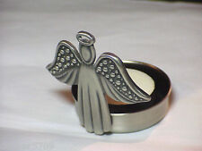 METAL ANGEL VOTIVE CANDLE HOLDER 2 1/2 IN HIGH AND 2 IN ACROSS