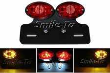 Cat Eye Motorcycle LED Tail Light w/ Indicator for Suzuki Streetfighter Project