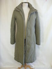 Ladies Coat - MNG, size M, khaki, padded, polyester, waterproof zip up warm 2395