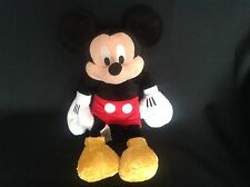 "THE DISNEY STORE MICKEY MOUSE 15"" TALL SOFT PLUSH TOY EXCELLENT CONDITION"