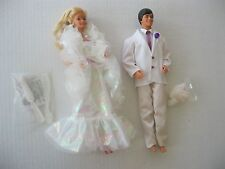 1984 Mattel Crystal Barbie & Crystal Ken Dolls Lot