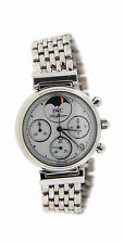 IWC Da Vinci Chronograph Moonpahse Stainless Steel Watch 3736
