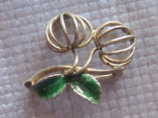 Vintage Sterling Silver Wells Fruit Pin