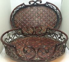 Set of Two Metal Rustic / Antique looking Trays