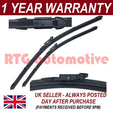 """FOR FIAT LINEA 2007 ON DIRECT FIT FRONT AERO WIPER BLADES PAIR 26"""" + 15"""""""