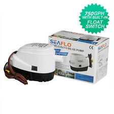 SEAFLO 12V Boat Automatic Submersible Bilge Water Pump 750GPH Auto Perfect