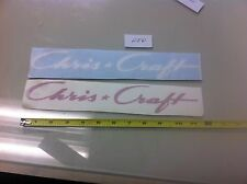 """x2 Chris Craft RED WHITE 11"""" vinyl sticker decal lake truck boat camping 4x4"""