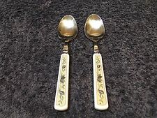 Mikasa Arabella Dinner Teaspoon CAC01 TWO RARE EXCELLENT!