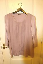 BEAUTIFUL PHASE EIGHT DUSKY PINK SILK DOUBLE LAYER FLOATY TOP TOP - SIZE XL