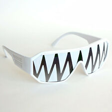 Macho Man White Shark Tooth Sunglasses Randy Savage Costume Wrestler Party WWF