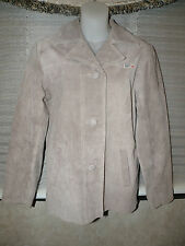 ROXY QUICKSILVER WOMEN'S BEIGE LEATHER COAT SIZE MEDIUM BRAND NEW NICE!!