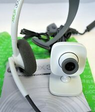 GENUINE Microsoft XBox 360 LIVE VISION Camera + Headset w/Mic Kit gold web-cam