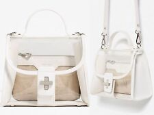 ZARA SOLD OUT White Vinyl Clear See Through Micro Tote Bag Purse Satchel Xbody