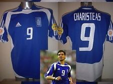 Greece Greek Adidas CHARISTEAS Shirt Jersey Football Soccer Adult Large Euro