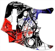 J Bass Pickguard Custom Fender Graphic Graphical Guitar Pick Guard Abstract 2
