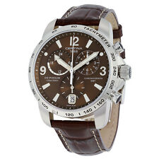 Certina DS Podium GMT Brown Dial Brown Leather Mens Quartz Watch C0016391629700